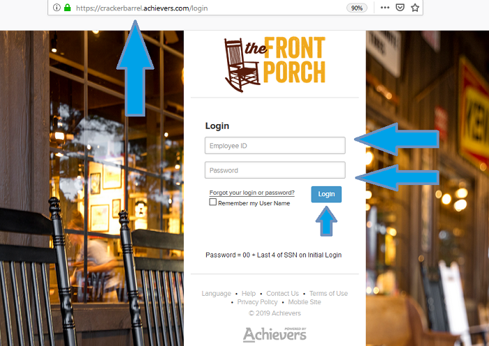 cracker barrel front porch employee login